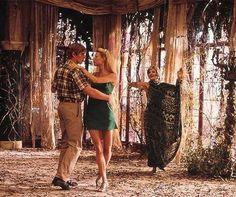 Green wardrobe worn by Gwyneth Paltrow as Estella Havisham in 1998 film Great Expectation.