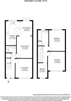 Rightmove.co.uk House Extension Plans, Rear Extension, Extension Ideas, Extension Designs, House Layout Plans, House Layouts, House Floor Plans, Bungalow Extensions, House Extensions