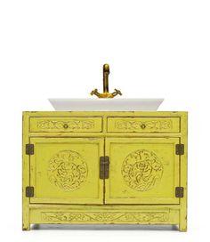 baño mueble con cajeado asiatico - Muebles chinos | muebles orientales | muebles asiaticos | decoración oriental China