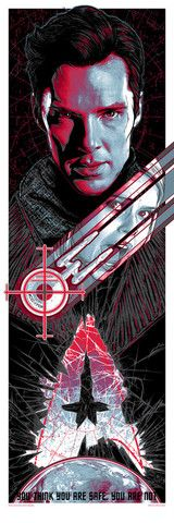 """Rhys Cooper """"Into Darkness Variant"""" screenprint 12 x 36 inches  numbered edition of 50"""