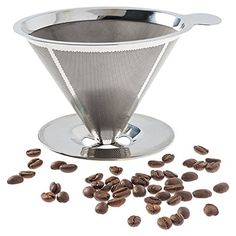 Pour Over Coffee Filter Stainless Steel Reusable Coffee Maker and Paperless Coffee Dripper -- For more information, visit image link. (This is an affiliate link) Pour Over Coffee Filter, Pour Over Coffee Maker, Portable Coffee Maker, Bunn Coffee, Reusable Coffee Filter, Coffee Dripper, Coffee Brewer, Mini Kitchen, Plastic Plates