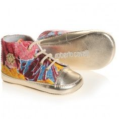 Floral High-Top Pre-Walker Trainers by Roberto Cavalli