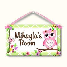 Your child will love having their very own personalized sign hanging on their bedroom door. These x signs are handmade by me using my own graphic artwork which I print out onto heavy and a Childrens Bedroom Accessories, Kids Door Signs, Butterfly Kids, Hanging Signs, Personalized Signs, Handmade Baby, Your Child, Toy Chest, Baby Kids