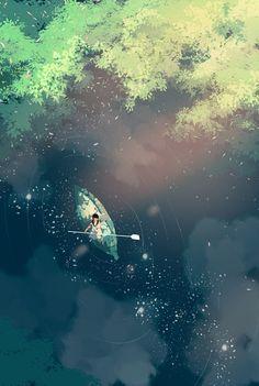 """제딧/Jedit on Twitter: """"물 속에도 하늘과 별이 가만히 떠올랐습니다. 한참 내리던 비가 그쳤습니다. 140/365 #365days_of_daydream https://t.co/ZrEi9PGPwh"""""""