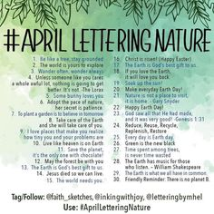 "90 Likes, 1 Comments - Lettering Challenges (@letteringchallenges) on Instagram: ""@faith_sketches @inkingwithjoy @letteringbymhel #aprilletteringnature . . .…"""