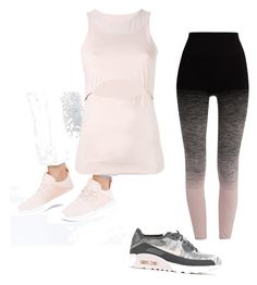 """""""Pale pink workout"""" by ashleeniethammer on Polyvore featuring NIKE, adidas and Pepper & Mayne"""