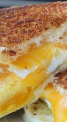Fried Egg Grilled Cheese Sandwich                              …
