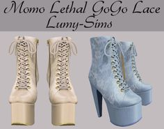 TS3 conversion to TS4  http://lumy-sims.com/post/148448754671/momo-lethal-gogo-lace-boots-14-swatches-custom