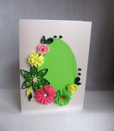 Quilling M handmade crafts and hobbies: Quilling Easter Cards - Felicitari de Paste Diy Arts And Crafts, Handmade Crafts, Crafts For Kids, Paper Quilling Earrings, Quilling Cards, Diy Easter Cards, Easter Crafts, Quilling Patterns, Quilling Designs