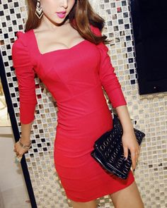 Lady in Red Dress Lady In Red, Bodycon Dress, Dresses, Fashion, Madame Red, Vestidos, Moda, Body Con, Fashion Styles