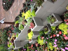 Yard idea. I need a retaining wall & this would make it prettier. Thanks Disney Flower show!