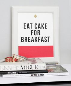 eat cake for breakfast magazine -  #friends  vogue  chocolate
