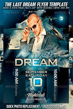 The Last Dream Flyer Template — Photoshop PSD #party #flyer • Available here → https://graphicriver.net/item/the-last-dream-flyer-template/502472?ref=pxcr