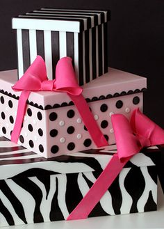 Trio of presents Cake