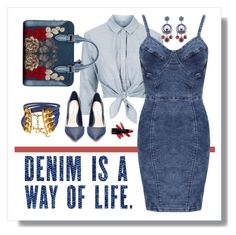 """Denim is a way of Life"" by fernshadowstudio-com on Polyvore featuring Topshop, Alexander McQueen, Christian Dior, Steve Madden and WearAll"