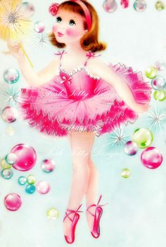 The Beautiful Little Ballerina Dancer Vintage by poshtottydesignz