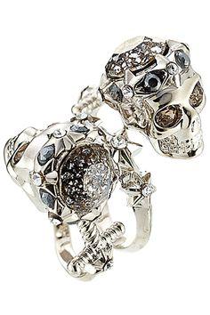Alexander McQueen - Embellished Skull Ring | STYLEBOP.com