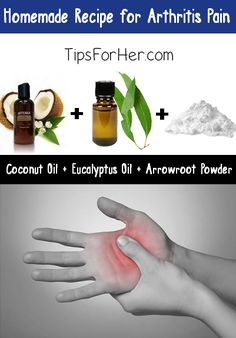 Homemade Recipe for Arthritis Pain - Relieves muscle aches and pains and perfect for those who have suffered from knee or wrist injuries