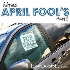 Hilarious April Fools Joke!! Still laughing... from howdoesshe.com #aprilfools #prank