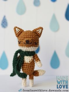 Fuchs-Stofftier klein gehäkelt, süß!