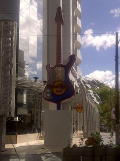 Hard Rock Cafe Guatemala City will also boast the tallest guitar in South America with its latest 40 foot addition which is now the city's latest 'must have' photo op.