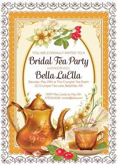 Tea Party Invitation Invitations Tea Parties Party by BellaLuElla