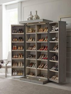 30 Fabulous DIY Shoe Rack Design Ideas for Your Shoe Collection – Home and Apartment Ideas Shoe Storage Design, Closet Shoe Storage, Diy Shoe Rack, Rack Design, Shoe Storage Solutions, Shoe Storage Elegant, Shoe Storage Cabinet With Doors, Shoe Closet Organization, Shoe Shelves
