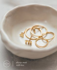 Solid Gold initial rings and earrings by Made by Mary Letter Earrings, Initial Pendant Necklace, Bar Necklace, Jewelry Necklaces, Bracelets, Cute Valentines Day Outfits, Valentines Gifts For Her, Earrings Handmade, Handmade Jewelry