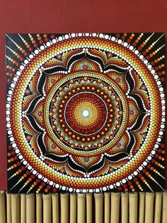 Sun Mandala, Mandala Canvas, Mandala Dots, Mandala Pattern, Mandala Design, Dot Art Painting, Painting Patterns, Stone Painting, Diy Crafts