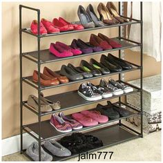 Shoe Rack Stackable 24 Pairs Shoes Organizer 6 Tier Storage Closet Shelf Expand #Unbranded