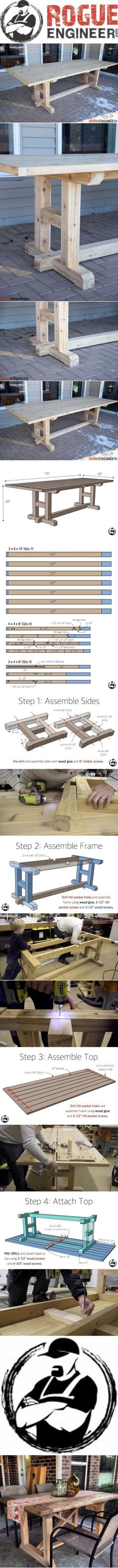 Easy Carpentry Projects - H-Leg Dining Table Easy Carpentry Projects - Get A Lifetime Of Project Ideas and Inspiration!