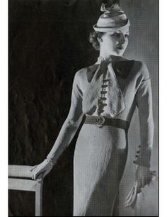 vionnet knit pattern.  Here is another one from a former era.  Love it.