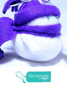 Roly Poly Snowman Ornament With Purple Hat And Scarf from Wyvern Designs http://www.amazon.com/dp/B0197E7MI2/ref=hnd_sw_r_pi_dp_AoHAwb0XM3DMP #handmadeatamazon