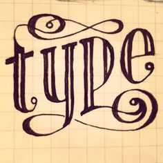 """""""type"""" __ Hand Lettering by [ts]Christer"""