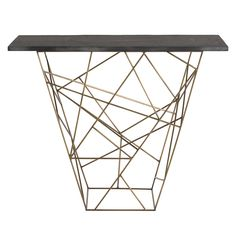 Buy the Arteriors 6020 Antique Brass Direct. Shop for the Arteriors 6020 Antique Brass Liev 42 Inch Long Marble Top Iron Console Table and save. Console Table, Arteriors, Arteriors Home, Modern Console Tables, Home Decor, Modern Console, Contemporary Home Decor, Geometric Side Table, Marble Side Tables
