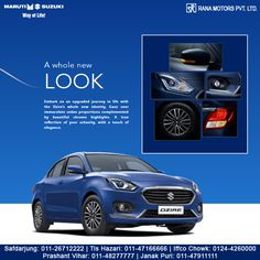 Embark on an upgraded journey in life with the Dzire's whole new identity. Gaze over immaculate sedan proportions complemented by beautiful chrome highlights. A true reflection of your urbanity, with a touch of elegance. Book a test drive today! http://www.ranamotors.co.in/maruti-suzuki-dzire-en-in.htm  Contact Numbers:- Safdarjung: 011-26712222 Prashant Vihar: 011-48277777 Iffco Chowk: 0124-4260000 Tis Hazari: 011-47166666 Janak Puri: 011-47911111  #MarutiSuzuki #Dzire #NewLook #Car…