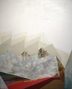 ANDY CURLOWE, Bad Land VIII 2014, acrylique et graphite sur lin / acrylic and graphite on linen