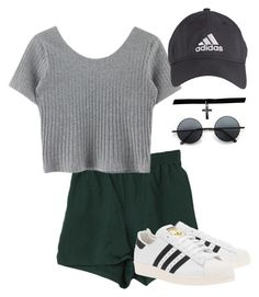 """Untitled #22"" by destiniet ❤ liked on Polyvore featuring Retrò, Boohoo, adidas Originals and adidas"