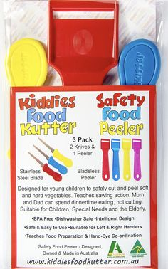 3Pack www.kiddiesfoodkutter.com.au Children, Kids, Safety, Canning, Australia, Food, Design, Young Children, Young Children