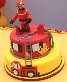 Bolo bombeiro.