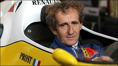 Alain Prost back behind the wheel of one of his old cars