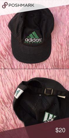 ADIDAS HAT BLACK GREEN HAT Cute hat Adidas Accessories Hats