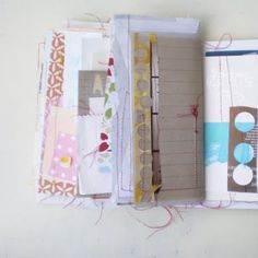 Great blog on paper art and journaling... Unfortunately it's in French, but if you are running google chrome, you have a translate feature.