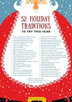 Looking for family traditions for Christmas? Fun, unique ideas for kids - from babies to toddlers, teens & adults + free printable holiday tradition list! Noel Christmas, Christmas Countdown, All Things Christmas, Winter Christmas, Christmas Crafts, Christmas Decorations, Magical Christmas, Christmas Food List, Christmas Planning