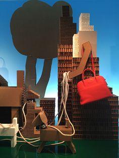 """HERMES,New York,""""Cardboard Recycling"""", photo by Mizhattan, pinned by Ton van der Veer"""