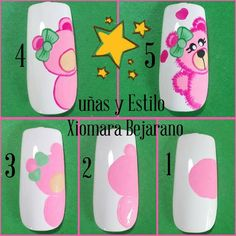 Cartoon Nail Designs, Animal Nail Designs, Animal Nail Art, Cute Nail Art Designs, Coffen Nails, Nail Manicure, Cute Nails, Swag Nails, Peacock Nail Art