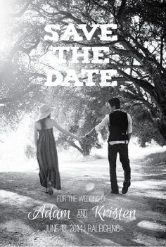 Self Print - Vintage Wedding Save the Date. One time fee for design then print it yourself!