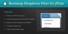 Bootstrap Dropdown Filter for jPList Library - http://wareznulled.com/bootstrap-dropdown-filter-for-jplist-library/