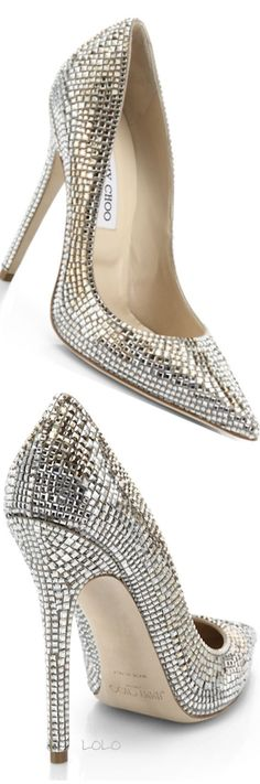 Jimmy Choo Tartini Square Pavé Crystal & Suede Pumps | LOLO #immychooheelsaccessories #jimmychoopumps
