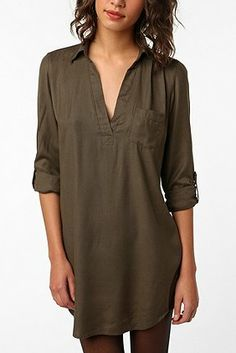 Sparkle & Fade Shirtdress at Urban Outfitters